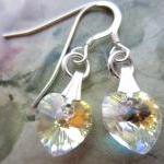 Crystal Earrings, Heart Ear..