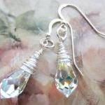 Crystal Earrings, Swarovski..