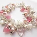Cluster Bracelet, Pink Swa..